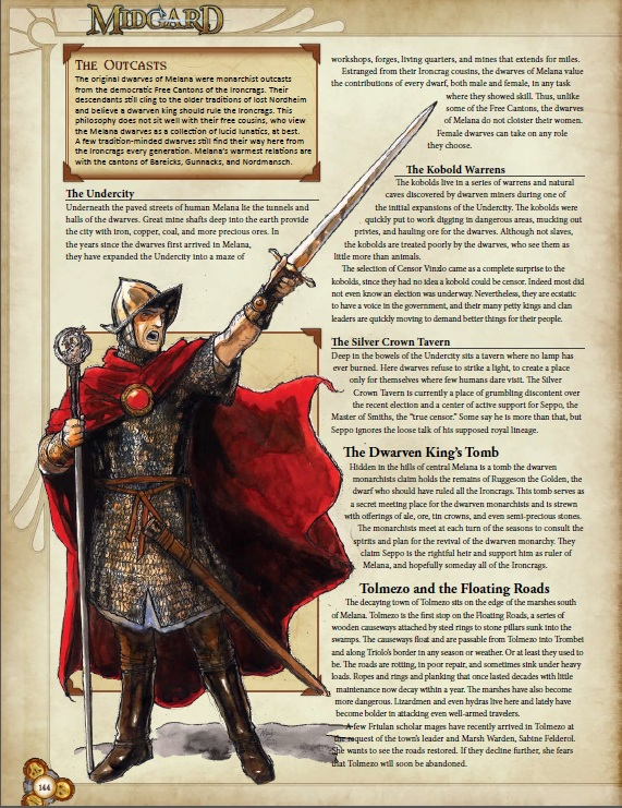 """Midgard Campaign Setting"": Example page"