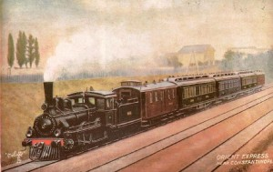 Orient-Express bei Konstantinopel, Postkarte um 1900