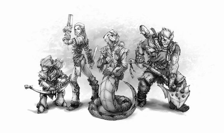 """""""Quantum RPG"""": Rassen (Automaton, Human, Azi, Mutant)"""