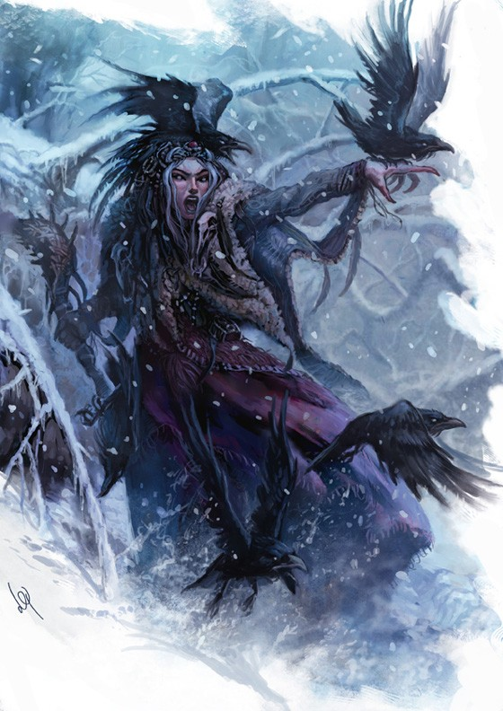 """Shadows of Esteren"": Snow Witch"