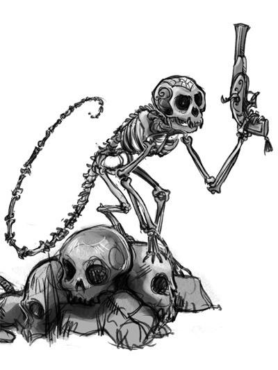 """Freebooter's Fate"": Skelettaffe"