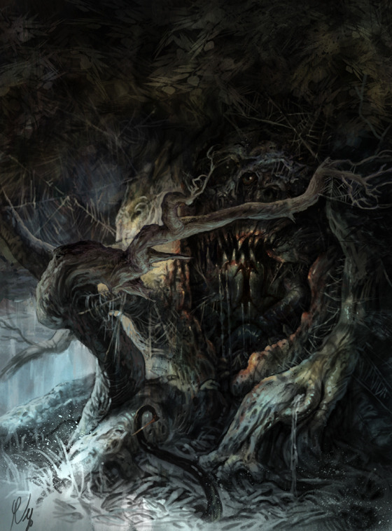 """Shadows of Esteren"": Some hungry tree?"