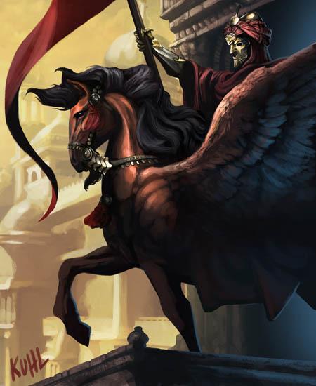 """""""Hellfrost Land of Fire"""": A horseman"""