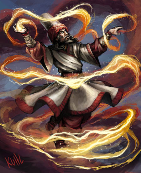 """Hellfrost Land of Fire"": Spellcaster"