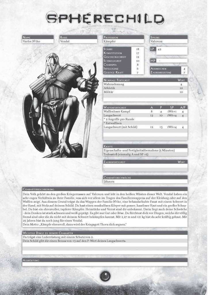 Das Spherechild-Spielbuch:Beispielcharakter Vurloc N'tho