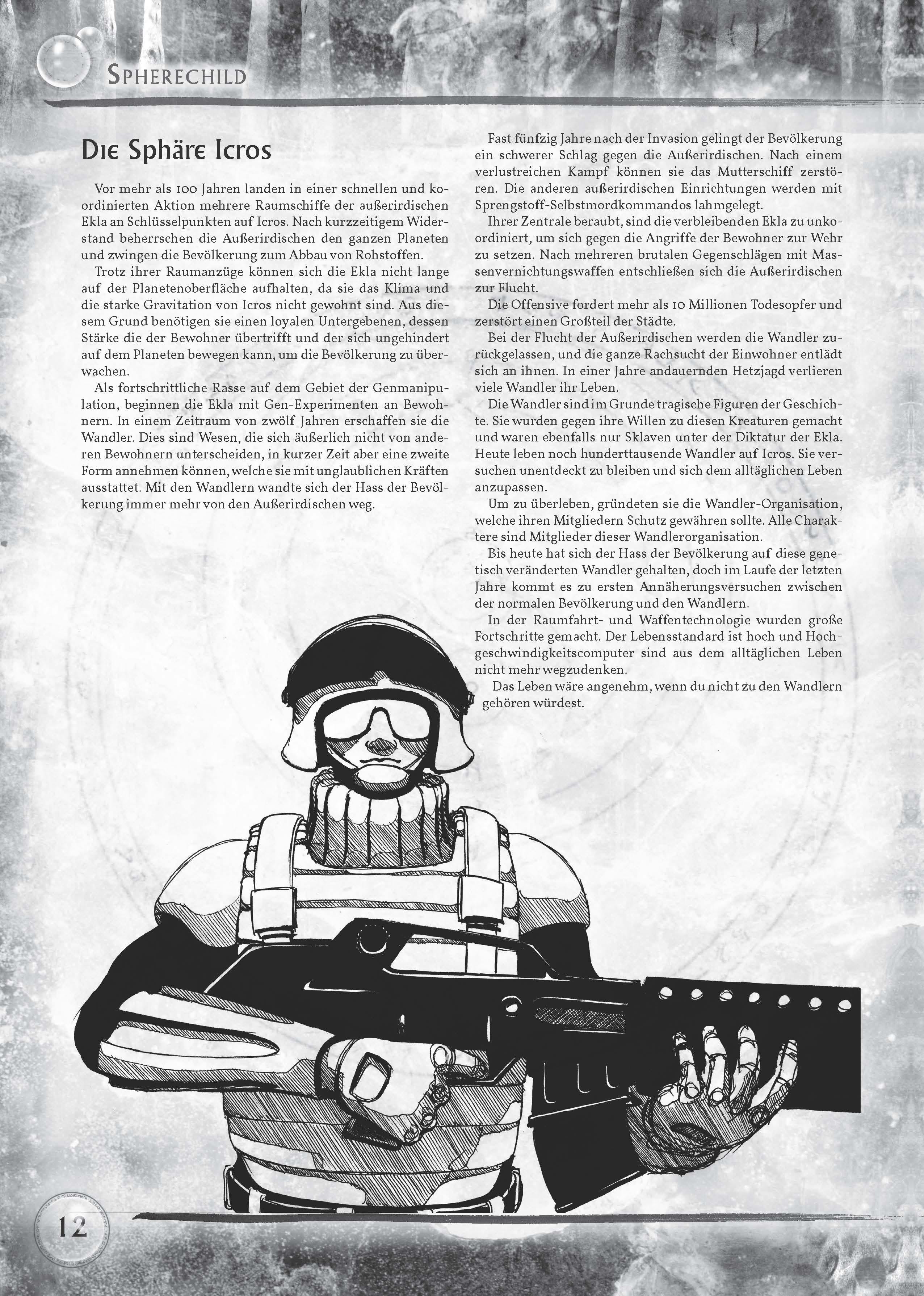 Spherechild-Spielbuch: Beispielseite