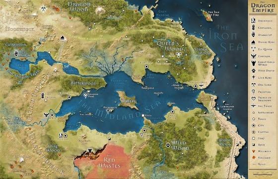 13th Age: Dragon Empire map