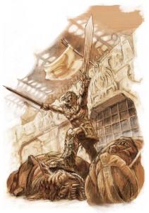 13th Age: A Half-Orc Gladiator
