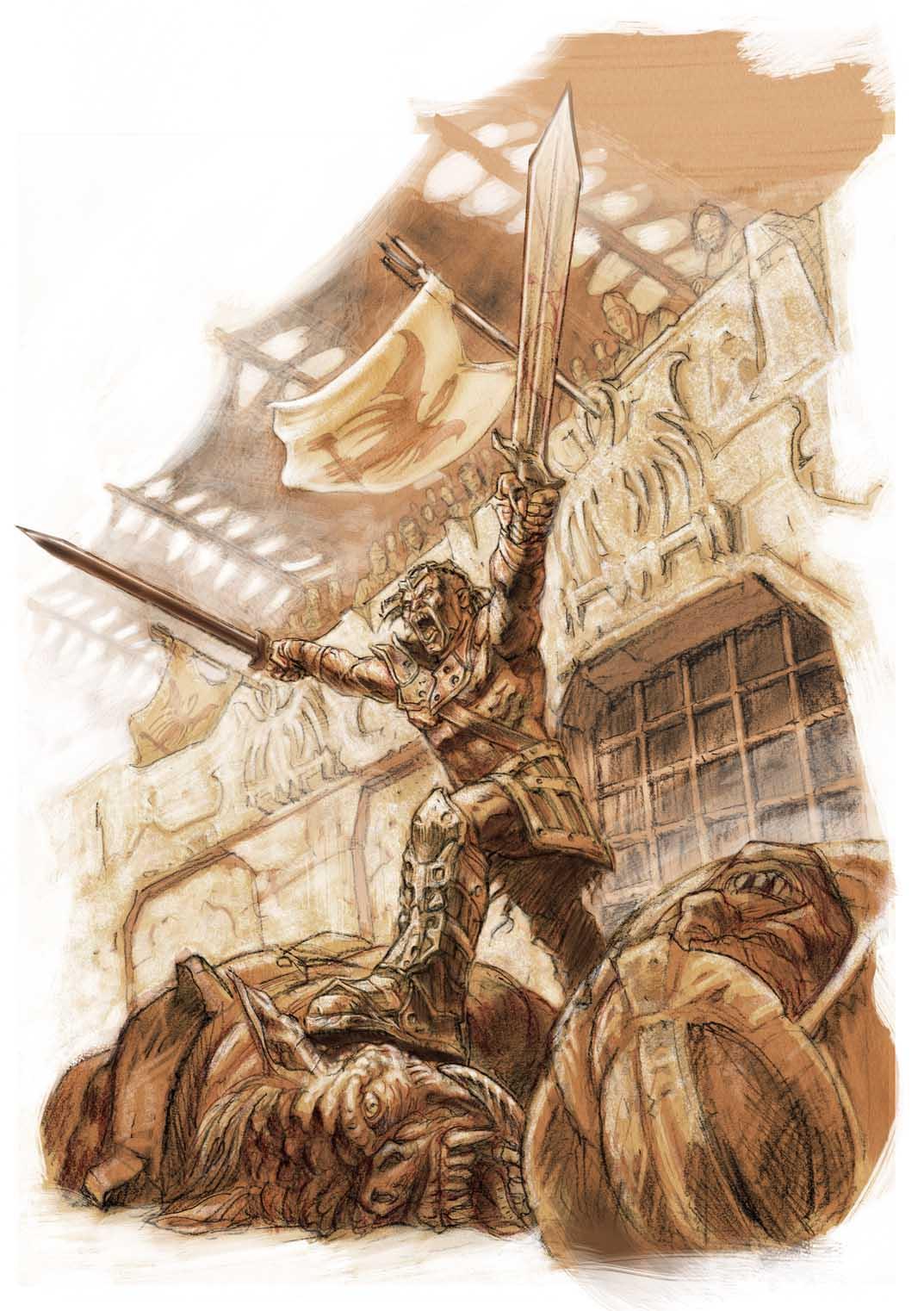 13th Age: Half-Orc Gladiator