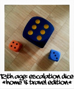 13th Age: Escalation dice