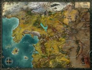 Kaltland-Chroniken: Karte