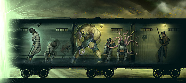 Through the Breach: A Malifaux Roleplaying Game: Train