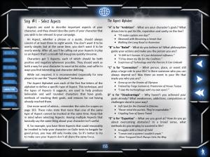 Nova Praxis: Example Page (Aspect Alphabet, Void Star))