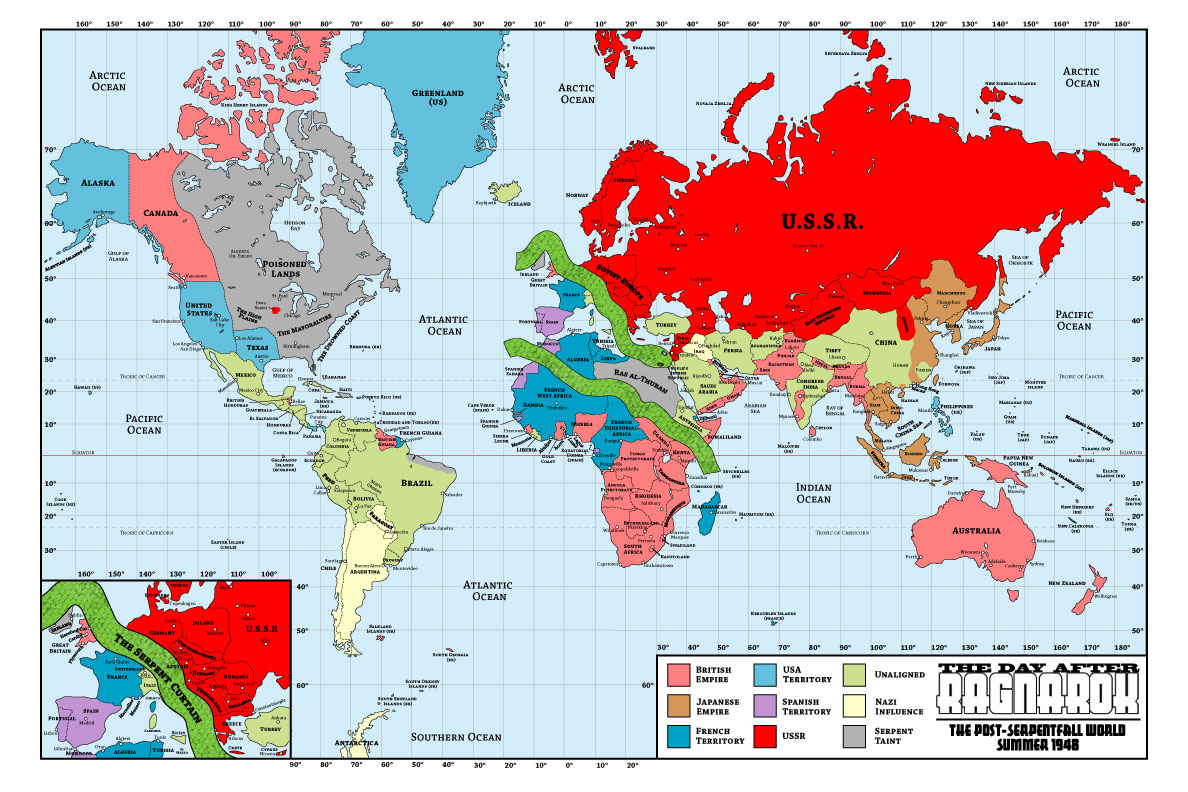 The Day After Ragnarok: Post Serpentfall World Map