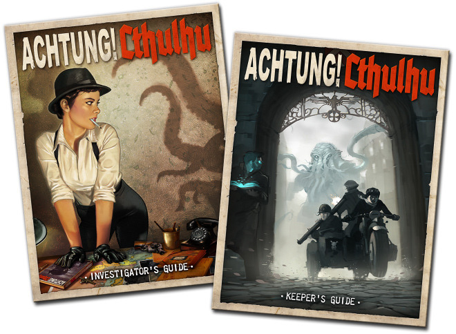 Achtung! Cthulhu - The WW2 Keeper's & Investigator's Guides (Modiphius Entertainment)