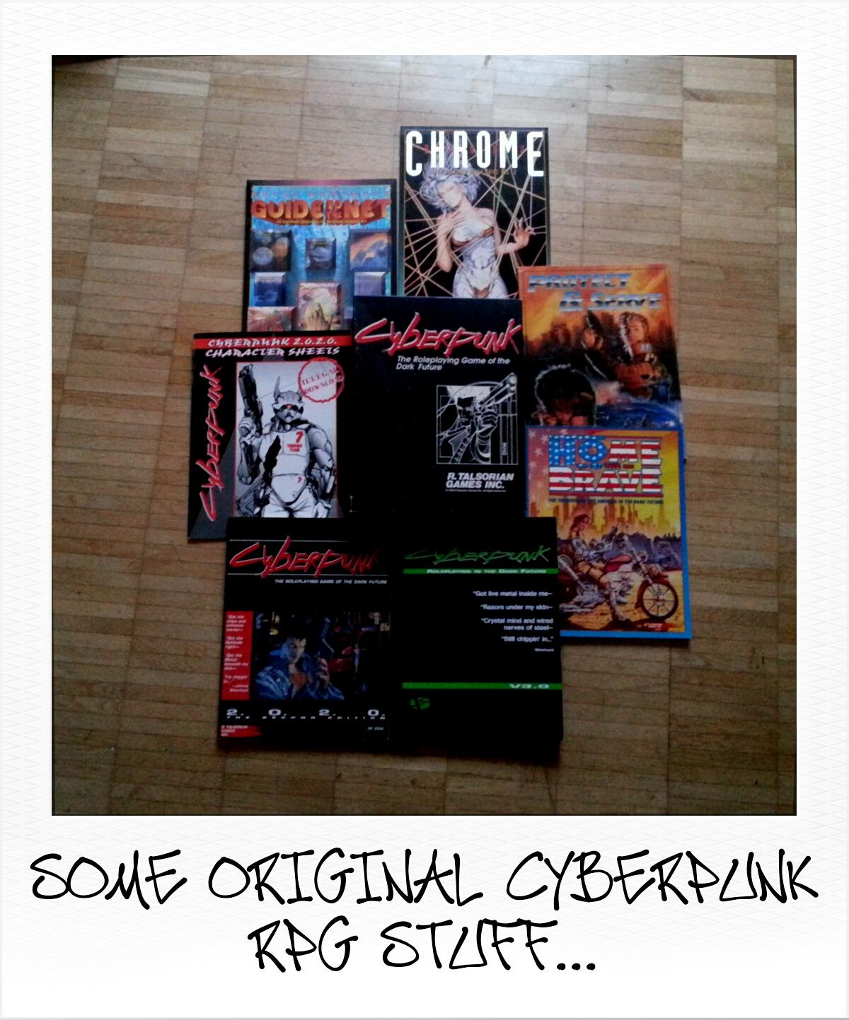 Some original Cyberpunk RPG Books (obskures.de)