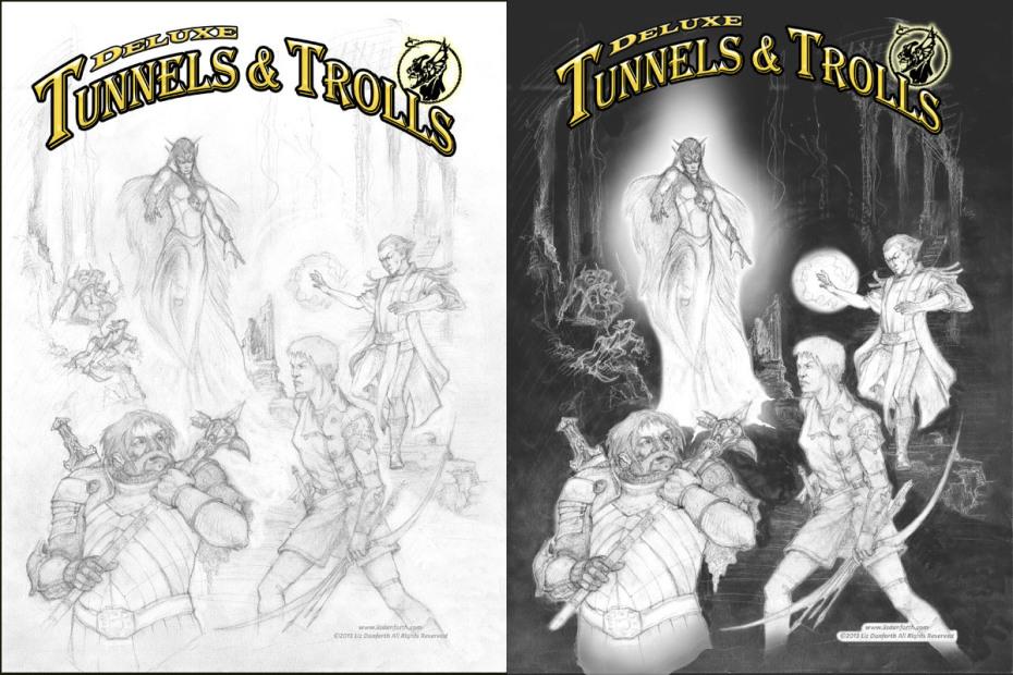 Deluxe Tunnels & Trolls: Cover (Liz Danforth, Flying Buffalo)
