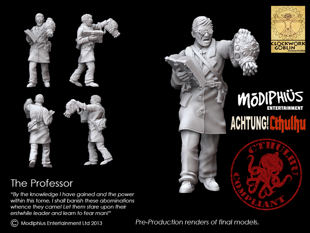 Achtung! Cthulhu - The Professor miniature (Modiphius Entertainment)