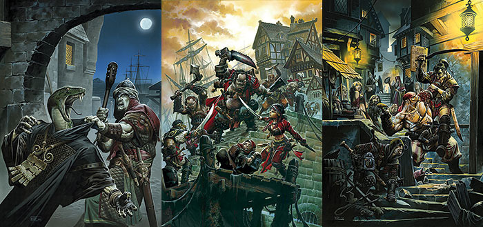 Freeport: The City of Adventure for the Pathfinder RPG: Original covers (Green Ronin)