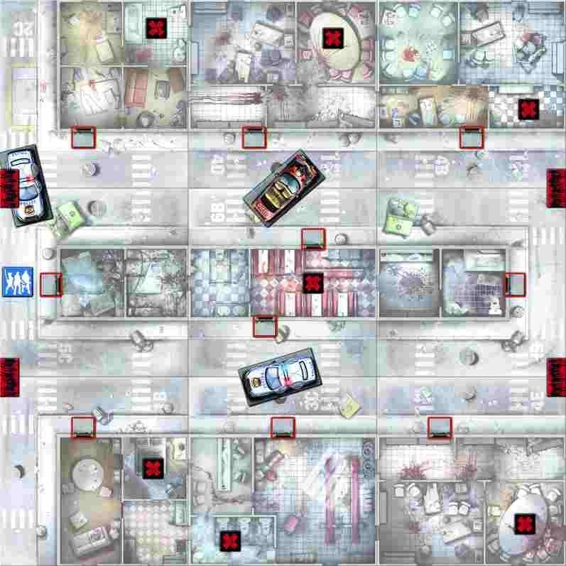 Zombicide: Scenario 3 (Guillotine Games/CoolMiniOrNot)