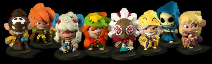 Krosmaster Arena Anime Miniatures Board Game: Figuren des Basisspiels (Ankama, Japanime Game)