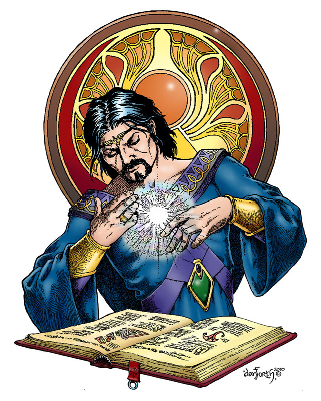 Studious Mage - Iconic figure for Deluxe T&T (Liz Danforth, Steve Crompton (colors))