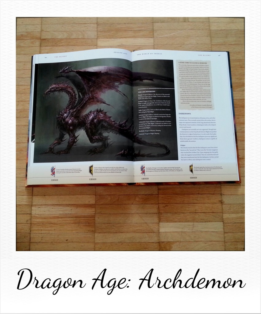 Dragon Age: The World of Thedas - Volume 1 (private picture of some Archdemon pages from the book by Dark Horse Comics)