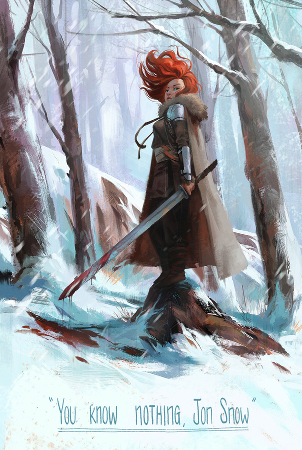 "Game of Thrones: Ygritte ""You Know Nothing, Jon Snow."" (jigokuen)"