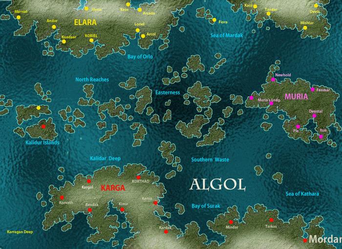 Mekton Algol Map (R.Talsorian Games Inc.)