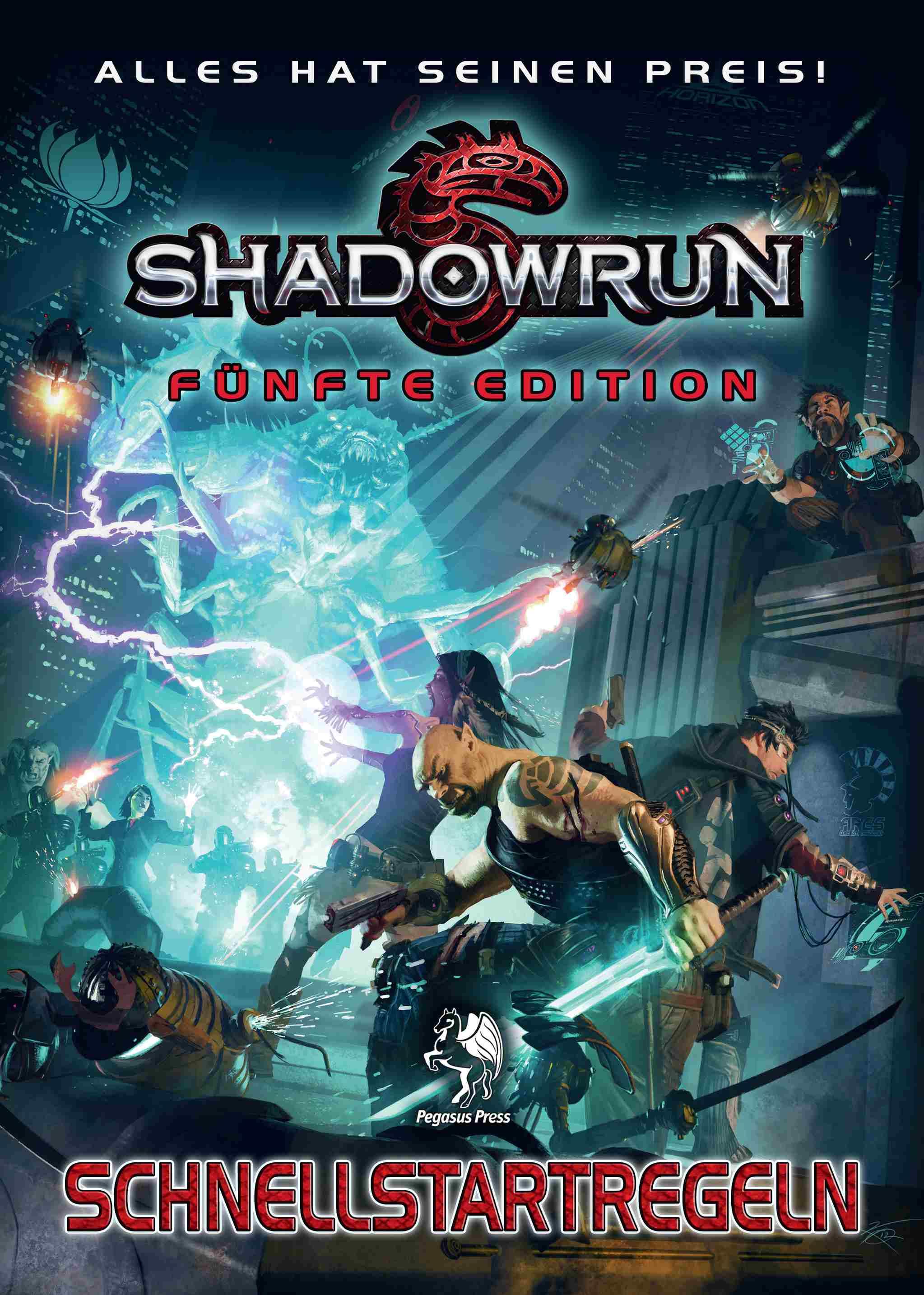 Shadowrun 5: Schnellstartregeln (Pegasus Spiele, Catalyst Game Labs, Topps Company)