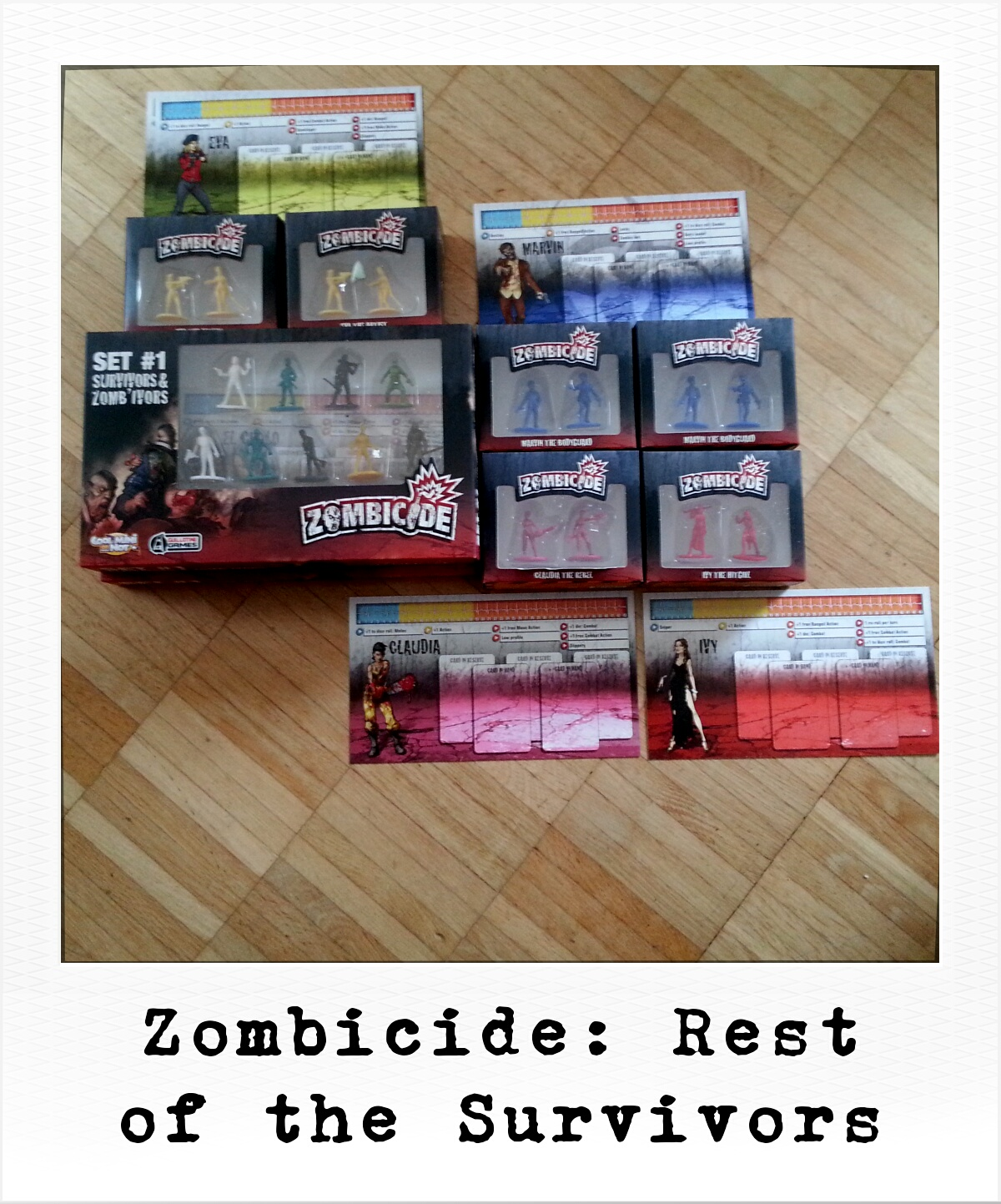 Zombicide: Rest of the Survivors - Eagle Chaz, Troy, The Cardboard, etc. (Privates Foto)