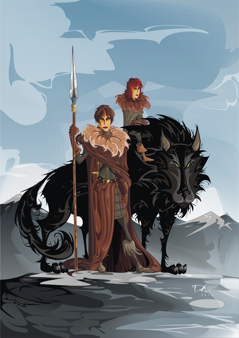 Game of Thrones: Osha, Rickon Stark and Shaggydog (Dejan Delic ©2013, All Rights Reserved.)