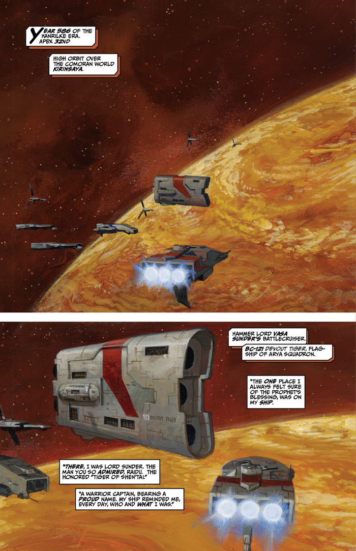 Iron Empires: Void - Page 2 of the first chapter of VOID (Christopher Moeller, Forged Lord Comics)