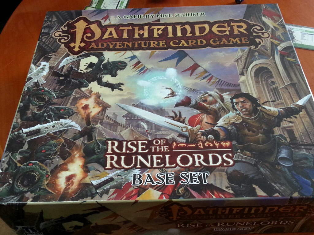 Pathfinder Adventure Card Game: Rise of the Runelords - Base Set (privates Foto der Testkopie von Paizo Publishing)