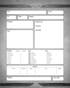 Rocket Age: Character Sheet (Cubicle 7)