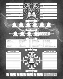 Victoriana 3rd Edition Character Sheet (Cubicle 7)