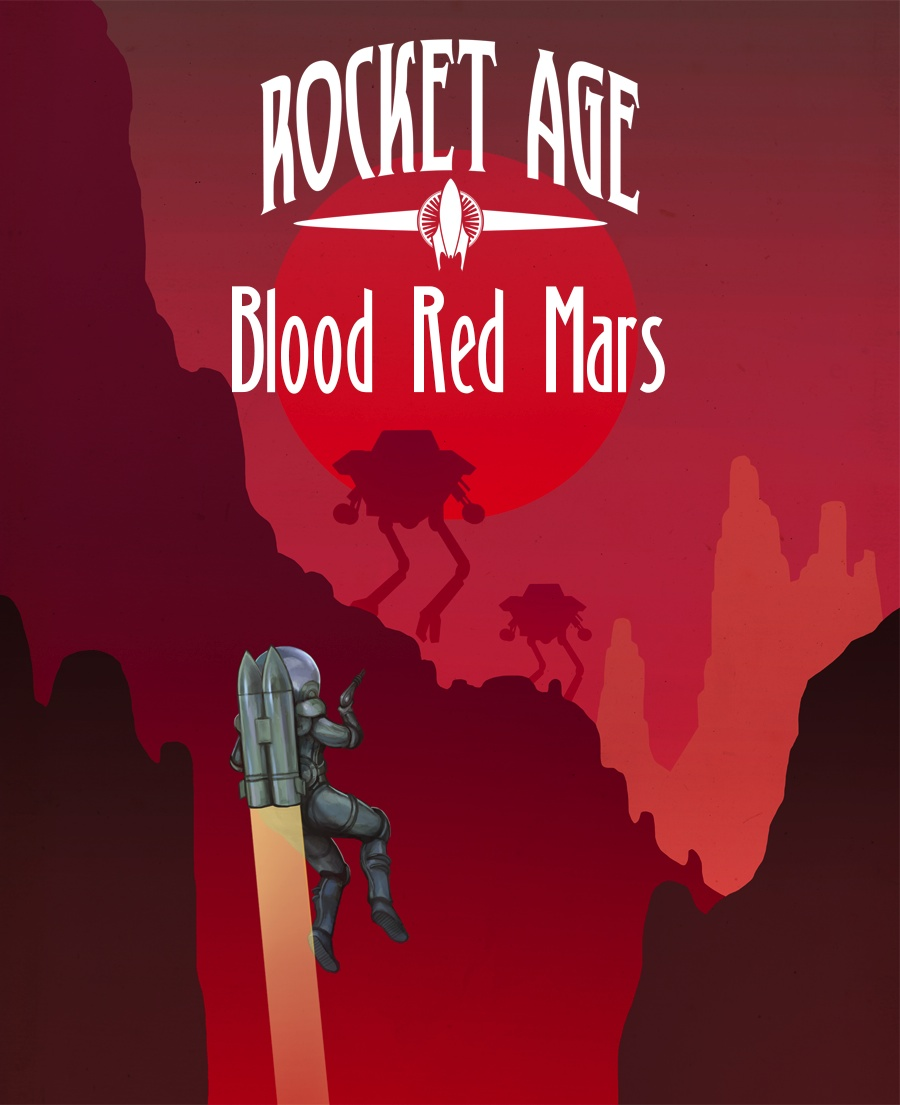 Rocket Age: Blood Red Mars Expansion (Not Final Art, Cubicle 7)