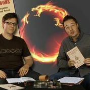 Drachenväter (Die Autoren/Drachenschreiber Konrad Lischka (links) und Tom Hillenbrand)