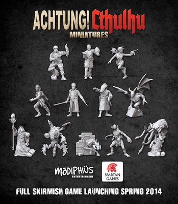 Achtung! Cthulhu Skirmish Game Launching Spring 2014 (Modiphius Entertainment/Spartan Games)
