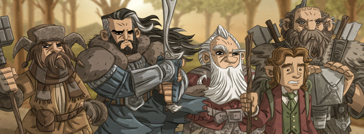 Hobbit and Lord of the Rings Images (Otis Frampton)