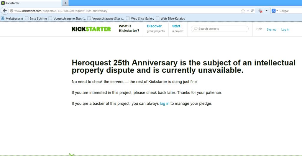 Heroquest 25th Anniversary gesperrt (01.De 2013)