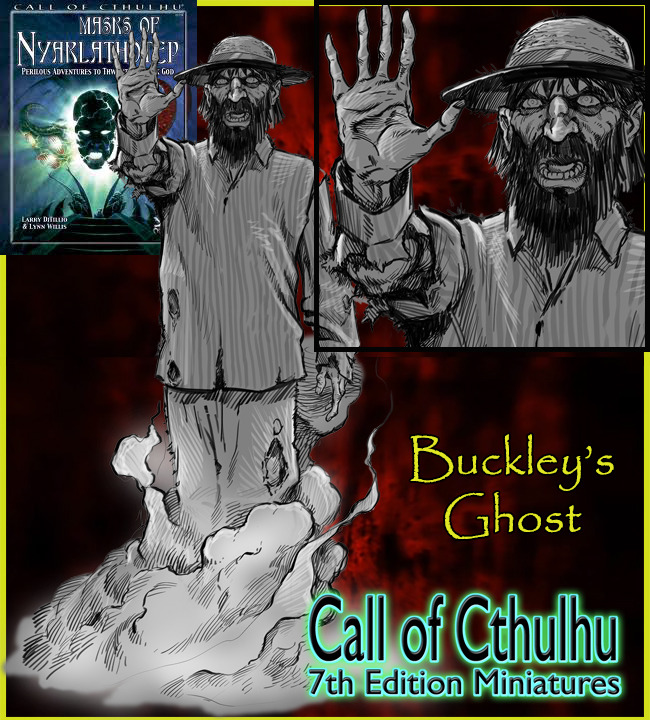 RAFM Call of Cthulhu 7th Edition Miniatures:  Masks of Nyarlathotep (Silver Fox Productions Inc)