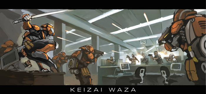 Keizai Waza - MERCS: Recon: Operation: Paradigm Shift (Image: MERCS Miniatures)