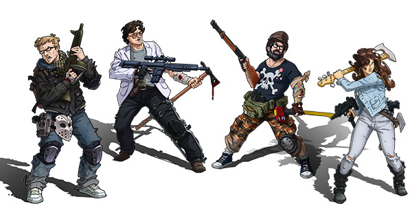 Zombicide Team (Copyright/Image: Guillotine Games/CoolMiniOrNot)