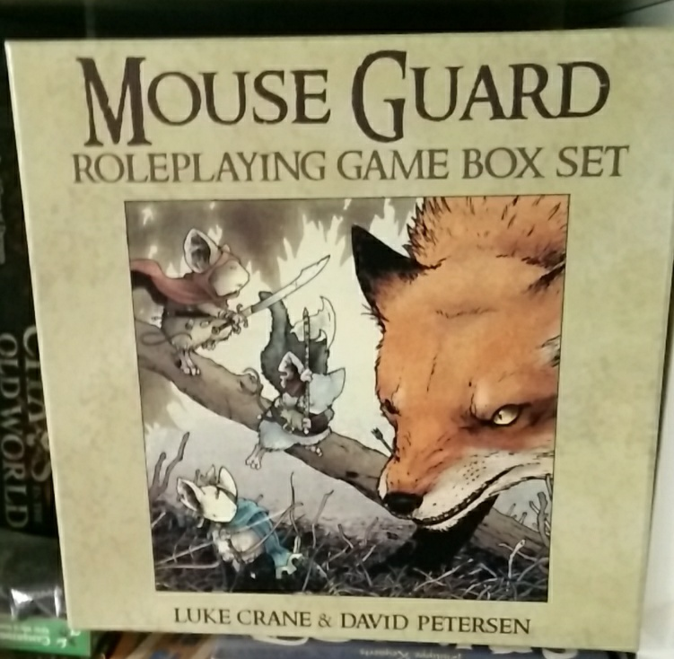Latest Mouse Guard RPG Box: Mouse Guard RPG 2nd Edition and Feng Shui 2 are coming (Image: obskures.de)
