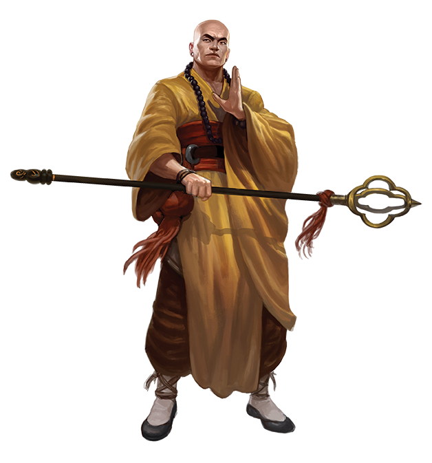 Feng Shui 2: Exorcist Monk (Image: Alex Pascenko / Atlas Games)