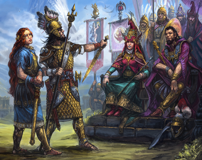 13th Age in Glorantha: Surrender at Starbrow's Rebellion (Image: Jan Pospisil / Moon Design Publications)
