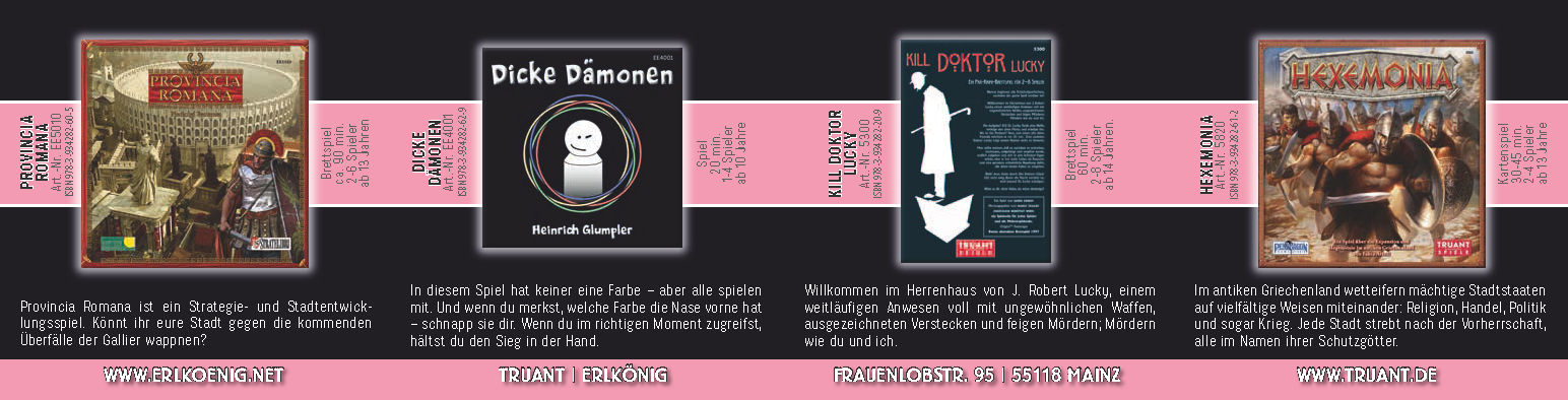 SPIEL'14 - Neuheiten: Edition Erlkönig / Truant Verlag (Image: Truant Verlag)
