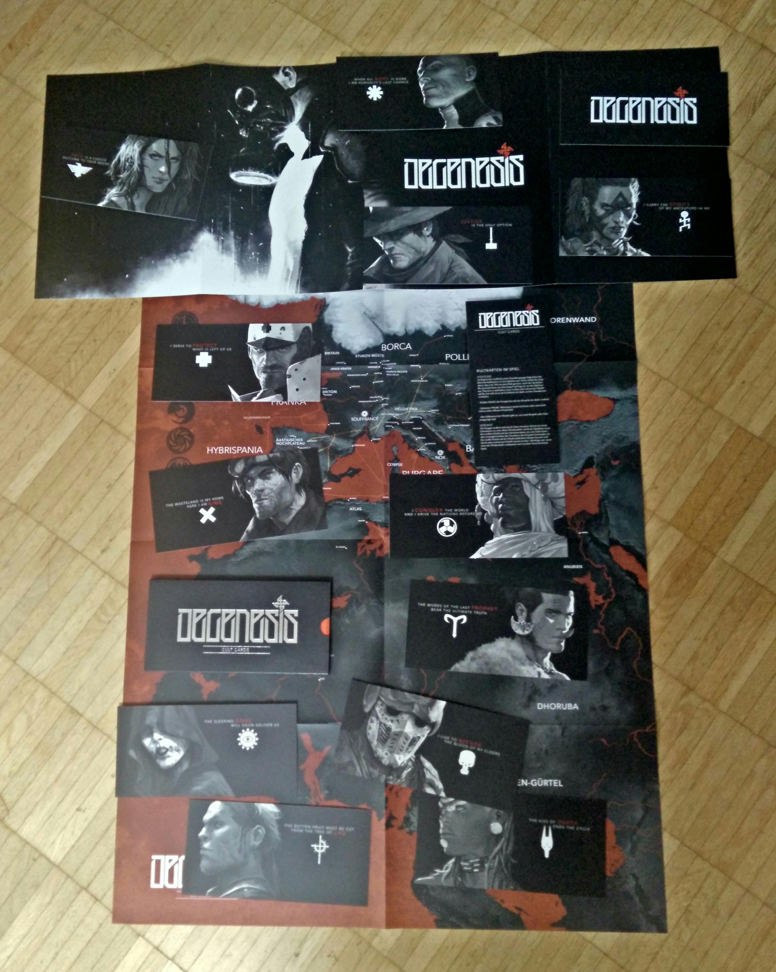 Degenesis: Rebirth Edition - Bonus-Material der Limited Edition (Karte, Charakterkarten, Spielleiterschirm) (Image: obskures.de)