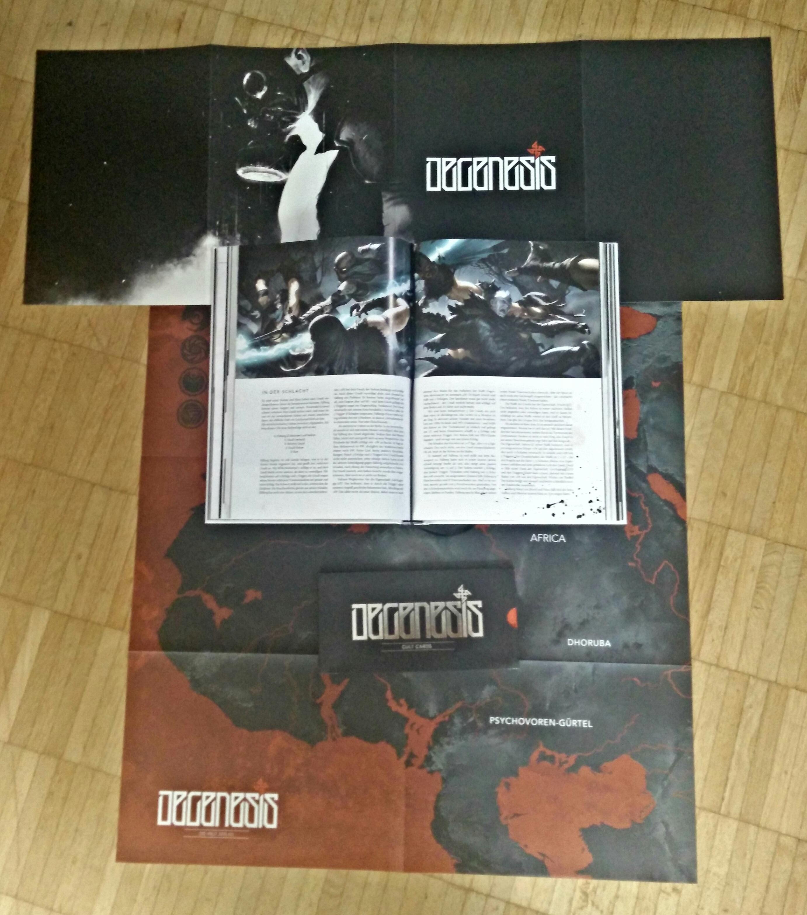 Degenesis: Rebirth Edition - Doppelseite aus Katharsys, dem Spielsystem (Image: obskures.de)